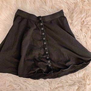 Urban outfitters button up black mini skirt